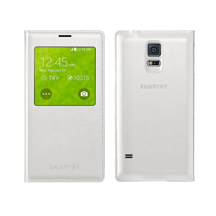 Чехол Samsung S-View Flip Cover OEM для Galaxy S5 Белый