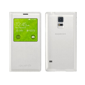 Чехол Samsung S-View Flip Cover для Galaxy S5 Белый