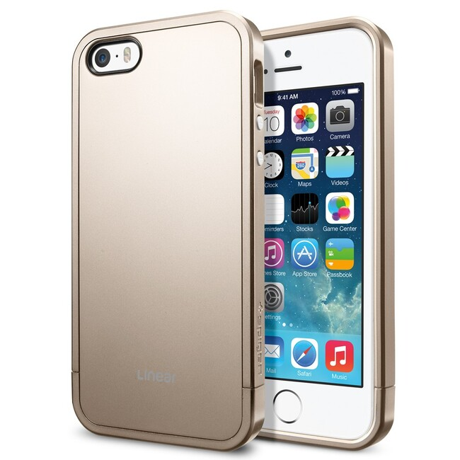 Чехол SGP Linear Metal Series Champagne Gold OEM для iPhone 5/5S/SE
