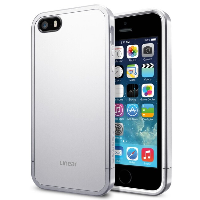 Чехол SGP Linear Metal Series Satin Silver OEM для iPhone 5/5S/SE