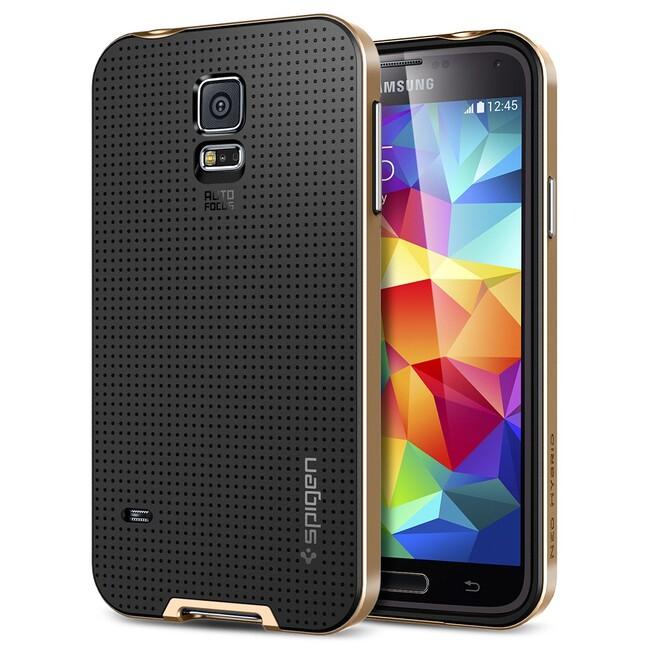 Чехол Spigen SGP Neo Hybrid Copper Gold OEM для Samsung Galaxy S5