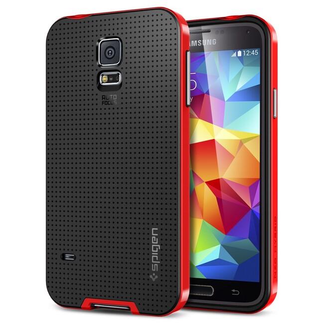 Чехол Spigen SGP Neo Hybrid Dante Red OEM для Samsung Galaxy S5