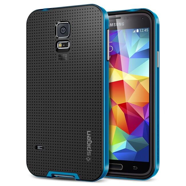 Чехол Spigen SGP Neo Hybrid Electric Blue OEM для Samsung Galaxy S5