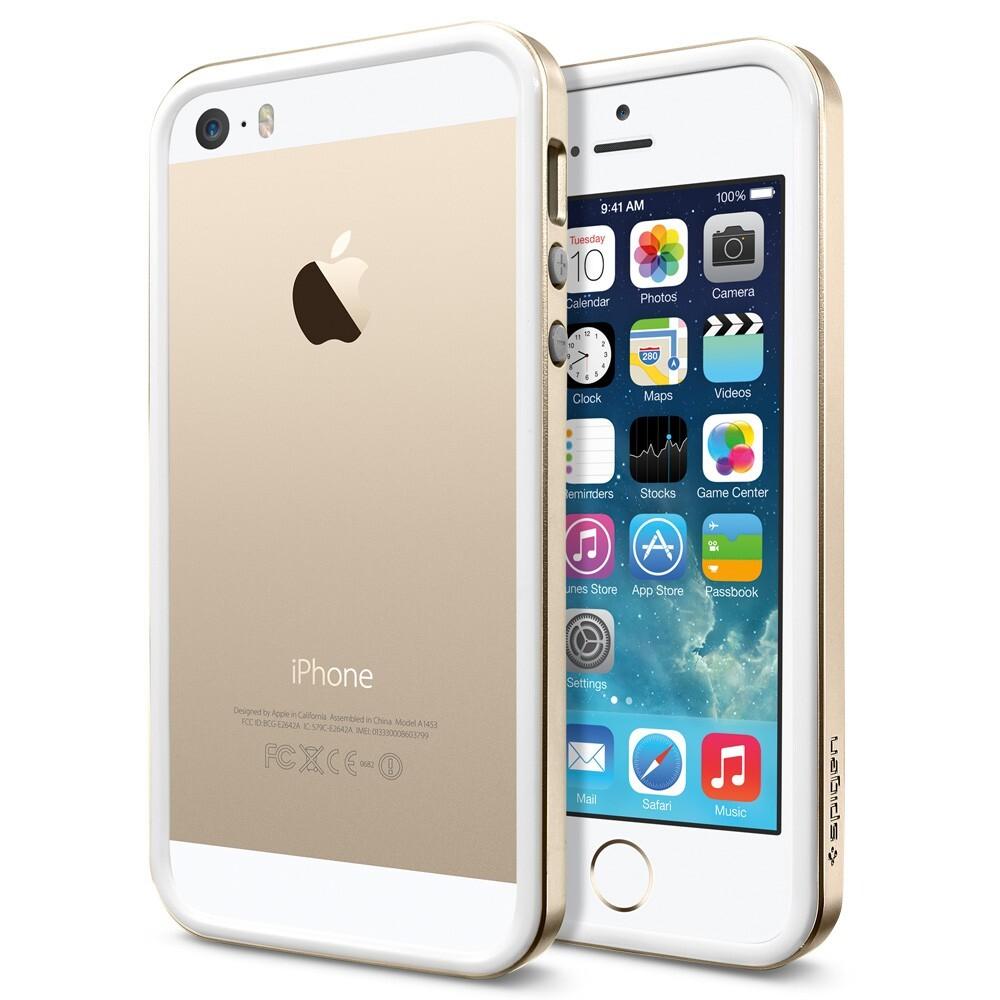 Бампер SGP Neo Hybrid EX Slim Metal Champagne Gold OEM для iPhone 5/5S/SE