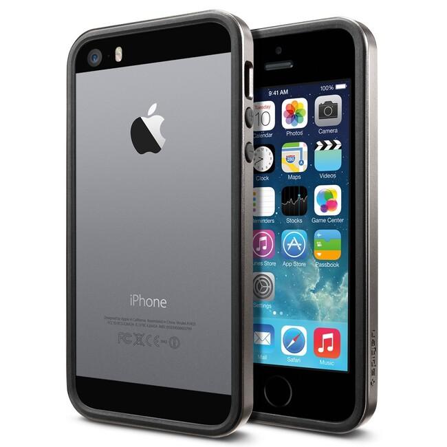 Бампер SGP Neo Hybrid EX Slim Metal Gunmetal OEM для iPhone 5/5S/SE