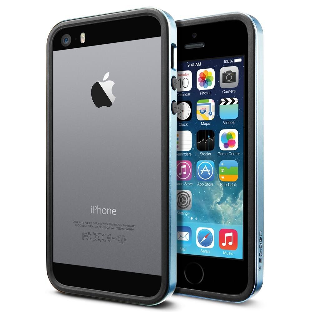 Бампер SGP Neo Hybrid EX Slim Metal Blue OEM для iPhone 5/5S/SE