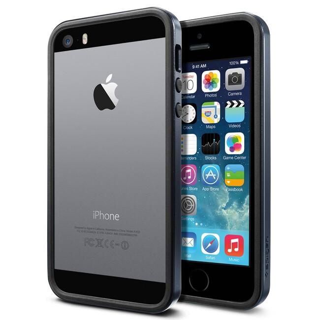 Бампер SGP Neo Hybrid EX Slim Metal Slate OEM для iPhone 5/5S/SE