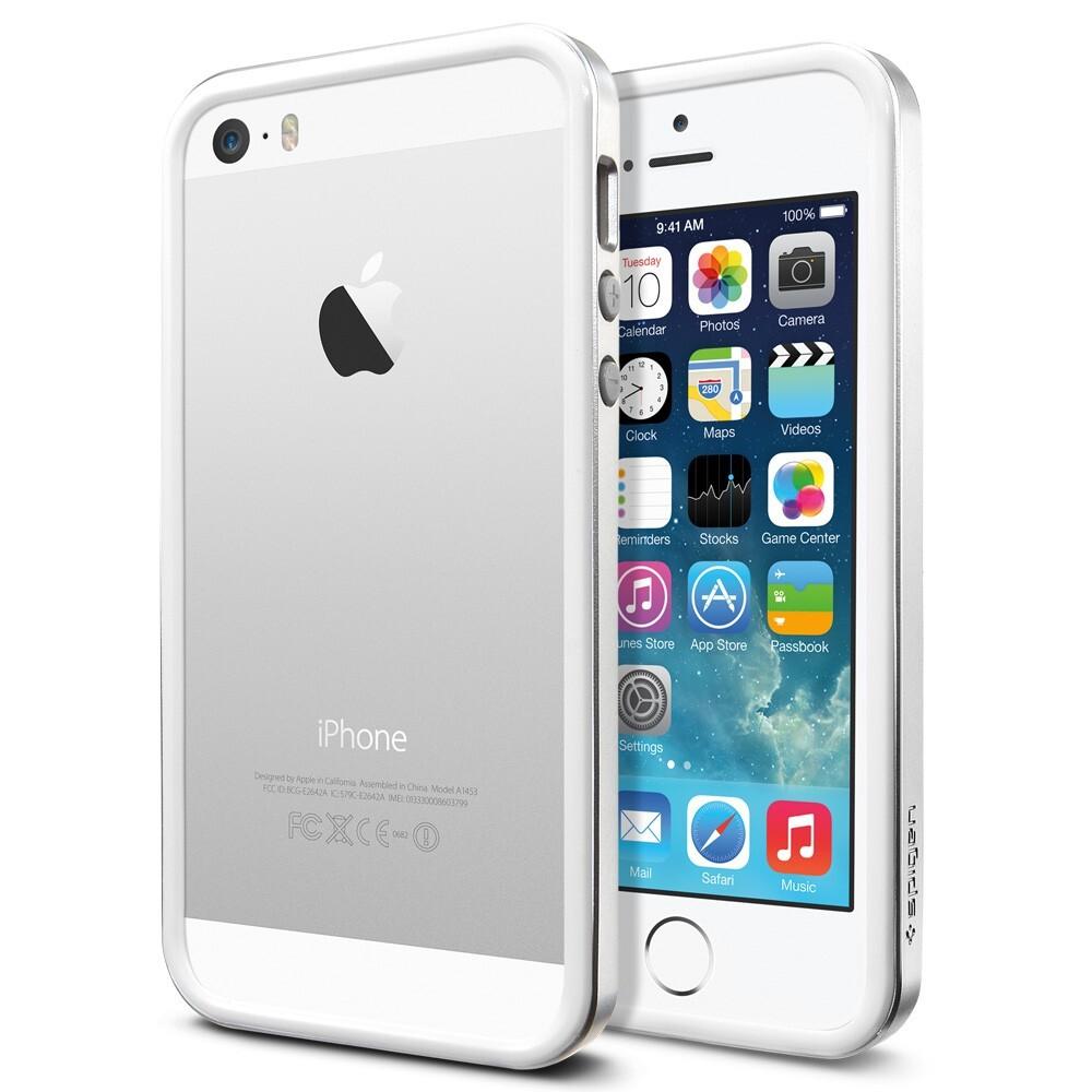 Бампер SGP Neo Hybrid EX Slim Metal Satin Silver OEM для iPhone 5/5S/SE