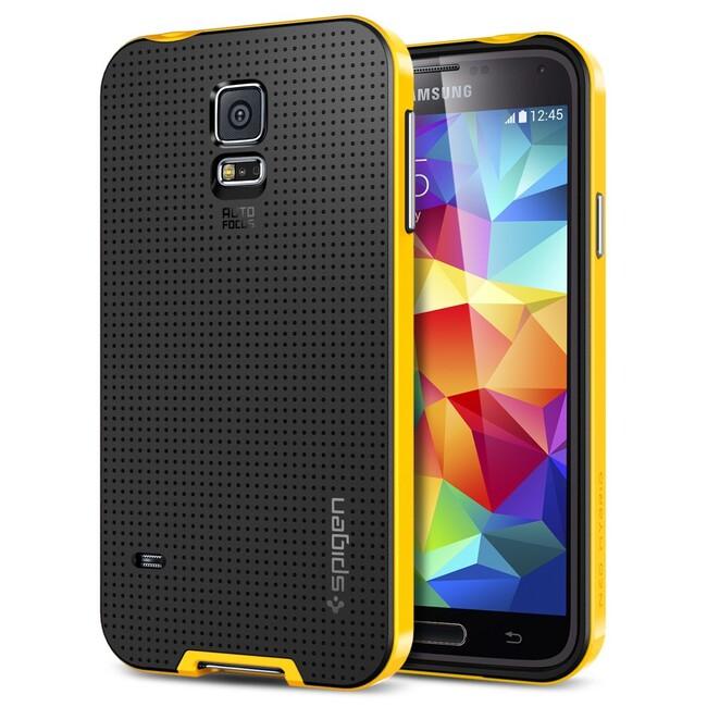 Чехол Spigen SGP Neo Hybrid Reventon Yellow OEM для Samsung Galaxy S5