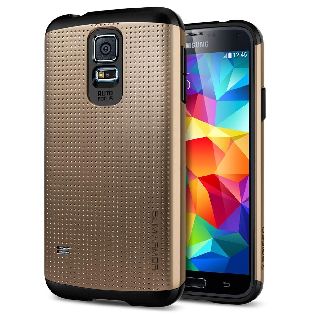 Чехол Spigen SGP Slim Armor Copper Gold для Samsung Galaxy S5