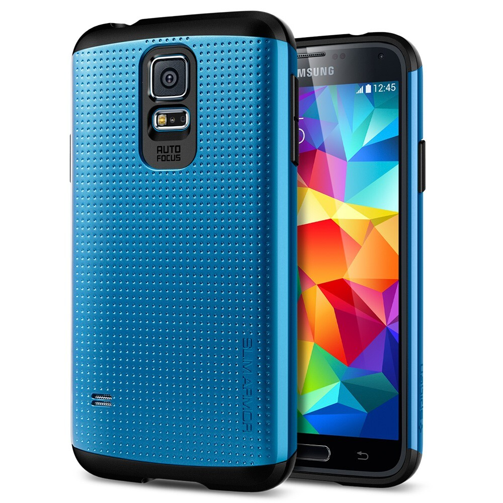 Чехол Spigen SGP Slim Armor Electric Blue для Samsung Galaxy S5