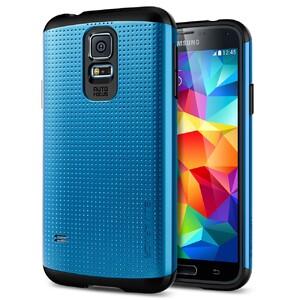 Чехол Spigen SGP Slim Armor Electric Blue для Samsung Galaxy S5