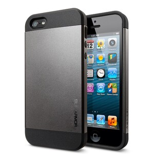 Купить Чехол Spigen Slim Armor Gunmetal для iPhone 5/5S/SE (Лучшая копия)