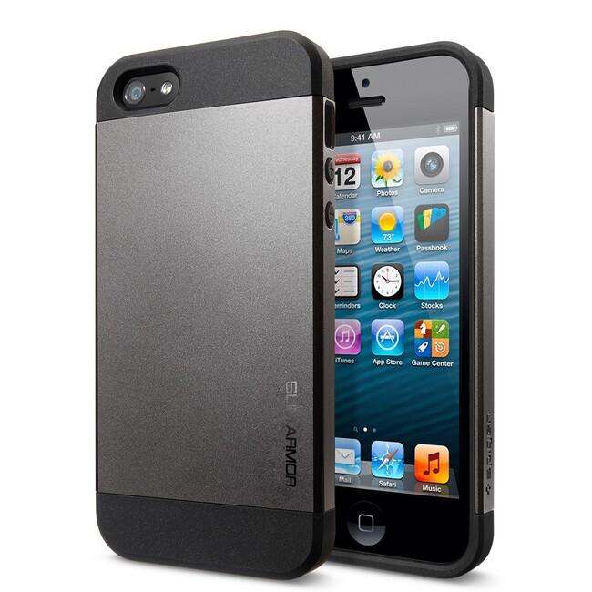 Чехол Spigen Slim Armor Gunmetal для iPhone 5/5S/SE