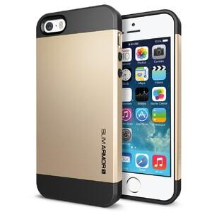 Купить Золотой чехол SGP Slim Armor S OEM для iPhone 5/5S/SE