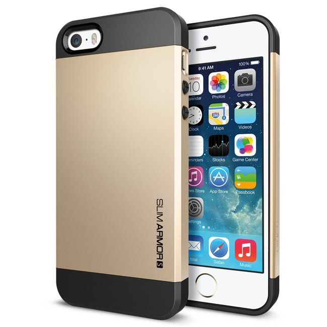 Золотой чехол SGP Slim Armor S OEM для iPhone 5/5S/SE