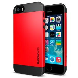 Купить Красный чехол SGP Slim Armor S OEM для iPhone 5/5S/SE