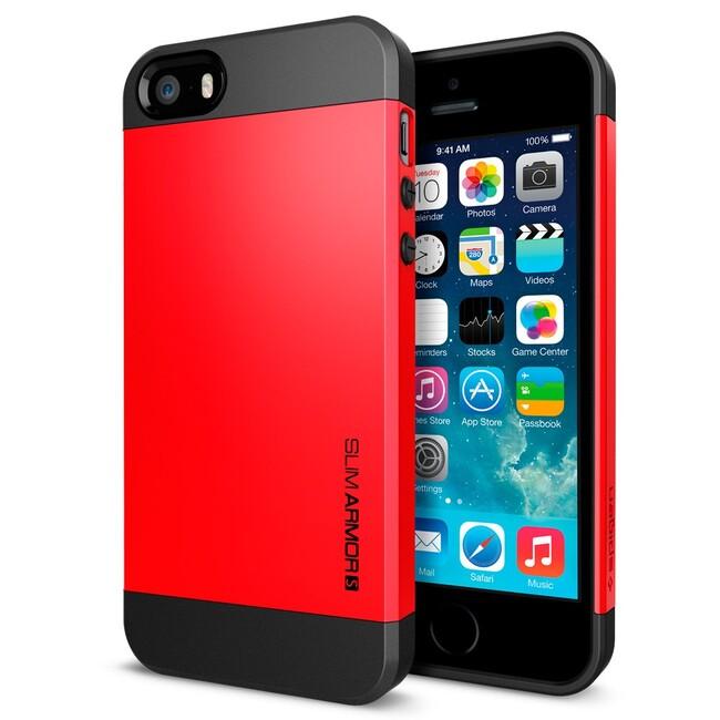 Красный чехол SGP Slim Armor S OEM для iPhone 5/5S/SE