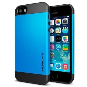 Купить Синий чехол SGP Slim Armor S OEM для iPhone 5/5S/SE
