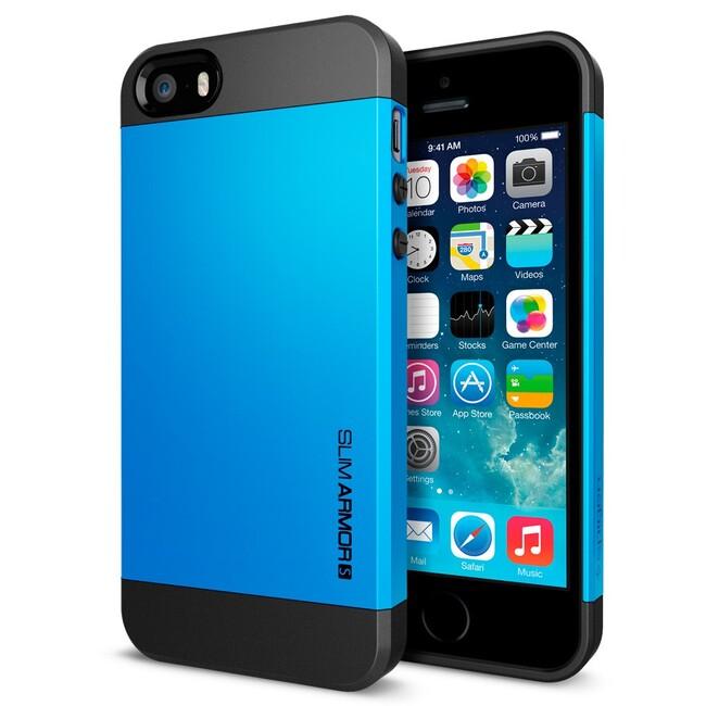 Синий чехол SGP Slim Armor S OEM для iPhone 5/5S/SE