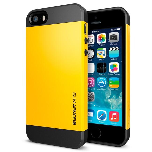 Желтый чехол SGP Slim Armor S OEM для iPhone 5/5S/SE