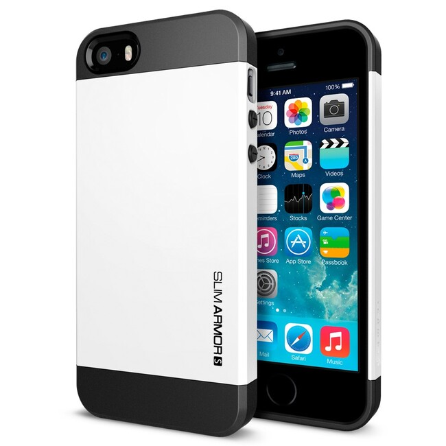 Белый чехол SGP Slim Armor S OEM для iPhone 5/5S/SE