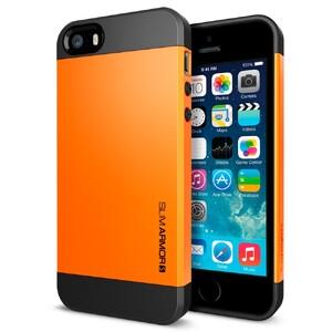 Купить Оранжевый чехол SGP Slim Armor S OEM для iPhone 5/5S/SE