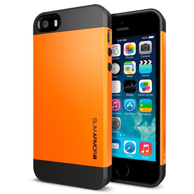 Оранжевый чехол SGP Slim Armor S OEM для iPhone 5/5S/SE