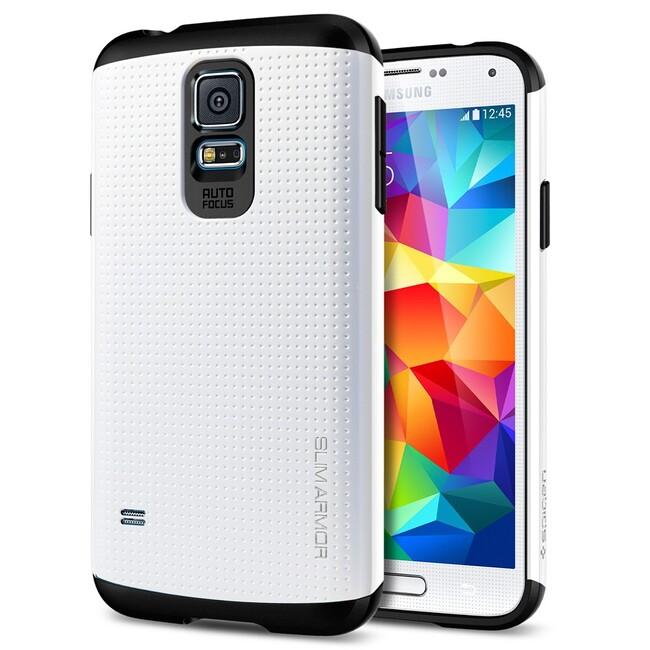 Чехол Spigen SGP Slim Armor Shimmery White OEM для Samsung Galaxy S5
