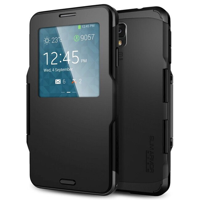 Чехол Spigen SGP Slim Armor View OEM Smooth Black для Samsung Galaxy Note 3
