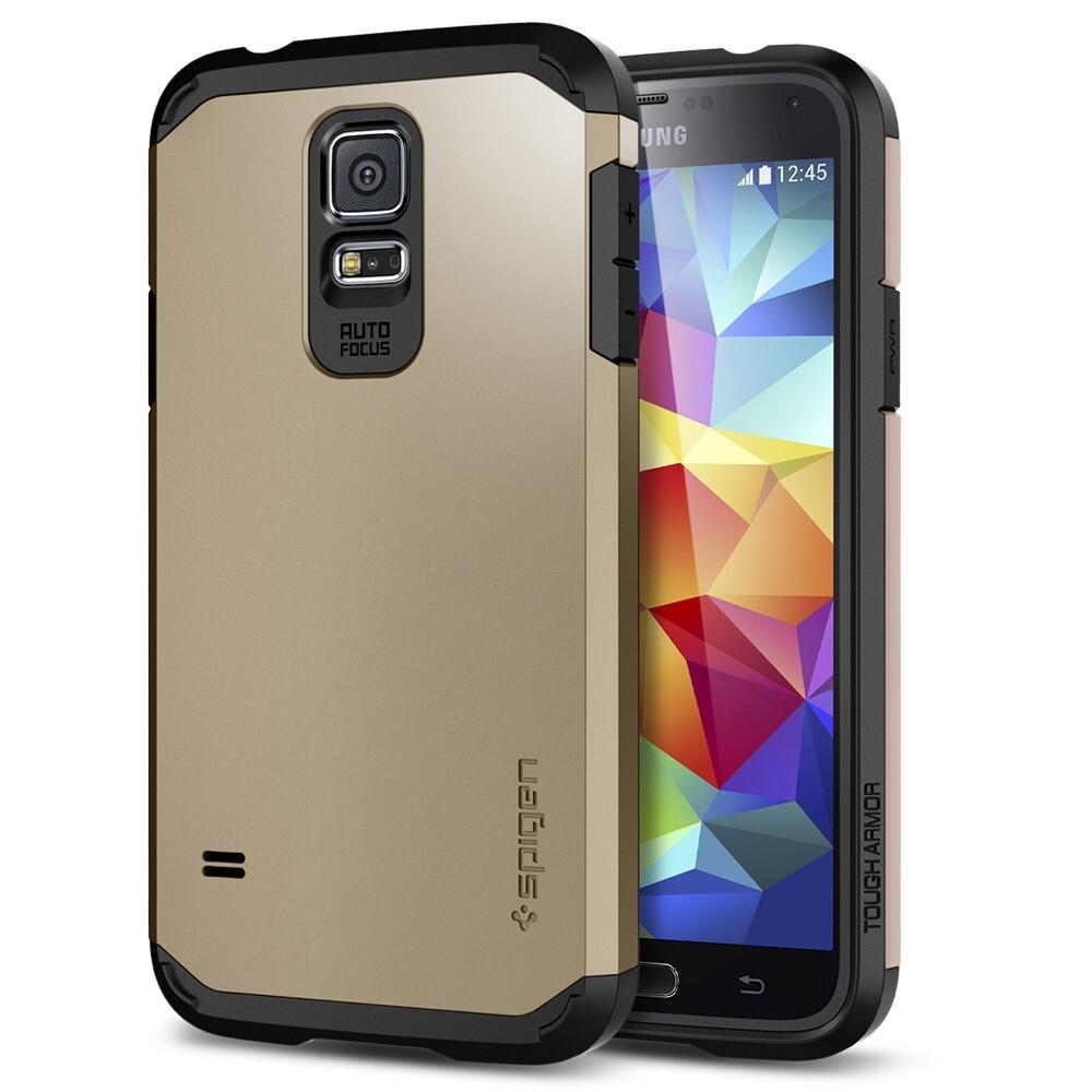 Чехол Spigen SGP Tough Armor Copper Gold OEM для Samsung Galaxy S5