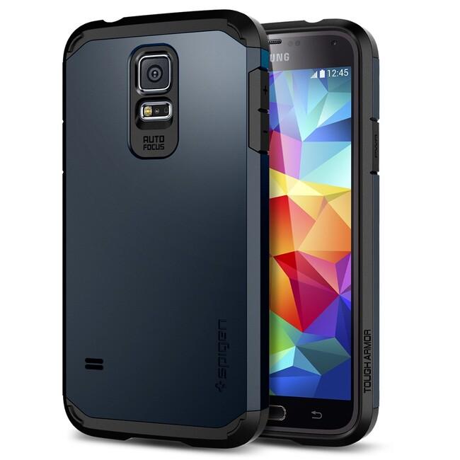 Чехол Spigen SGP Tough Armor Metal Slate OEM для Samsung Galaxy S5