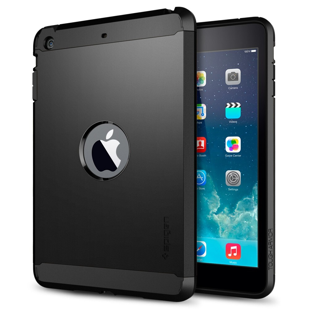 Чехол SGP Tough Armor Smooth Black для iPad mini 3/mini 2 Retina/mini