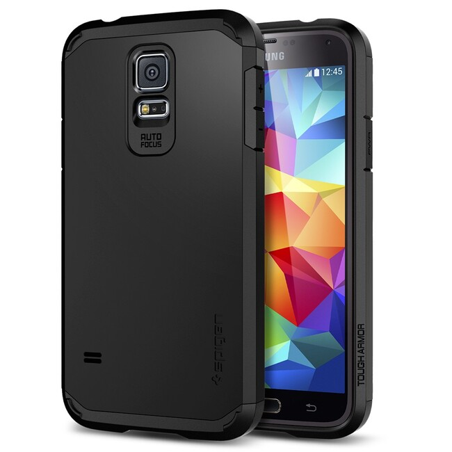 Чехол Spigen SGP Tough Armor Smooth Black OEM для Samsung Galaxy S5