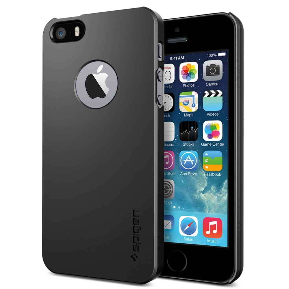 Чехол SGP Ultra Thin Air A Black OEM для iPhone 5/5S/SE