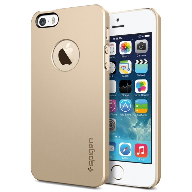 Чехол SGP Ultra Thin Air A Champagne Gold OEM для iPhone 5/5S/SE