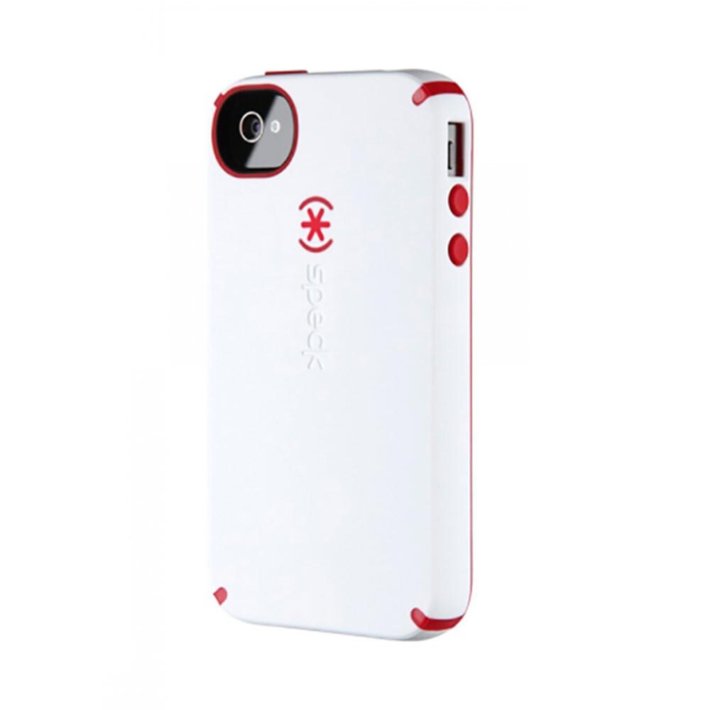 Противоударный чехол Speck CandyShell White/Red для iPhone 4/4S