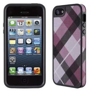 Чехол Speck Fabshell MegaPlaid Mulberry/Black для iPhone 5/5S