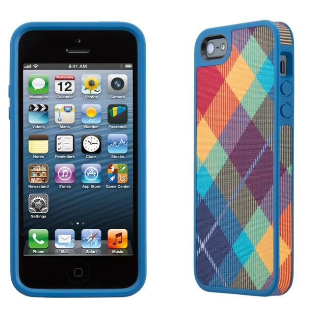 Чехол Speck Fabshell MegaPlaid Spectrum для iPhone 5/5S/SE