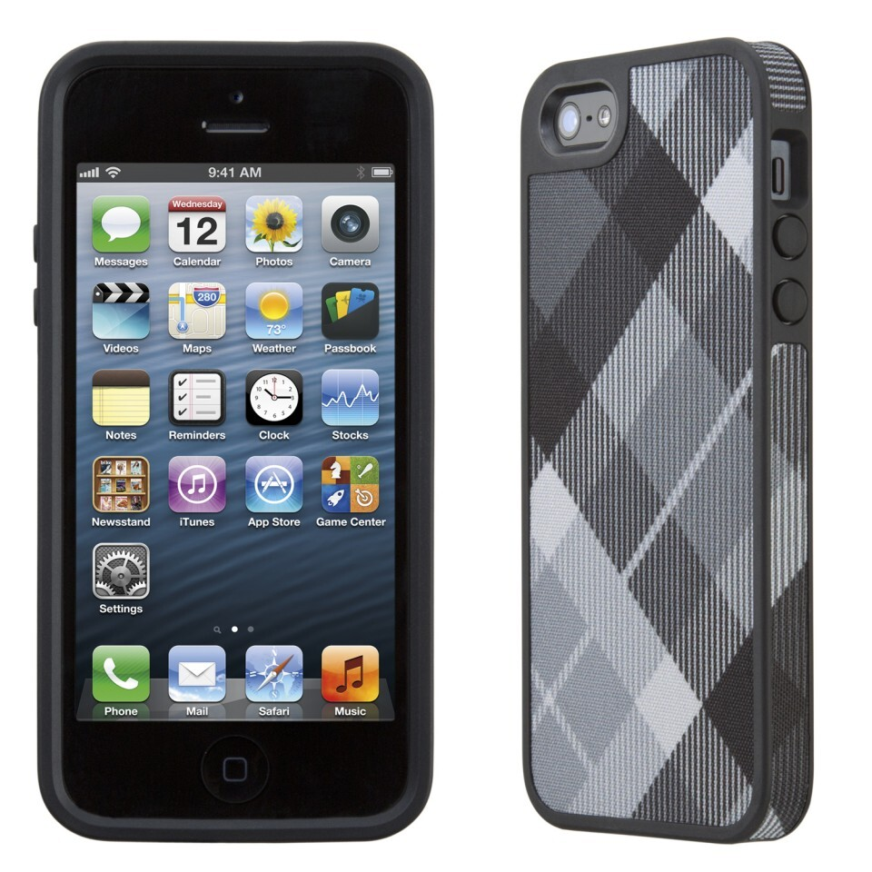 Чехол Speck Fabshell MegaPlaid Black для iPhone 5/5S/SE
