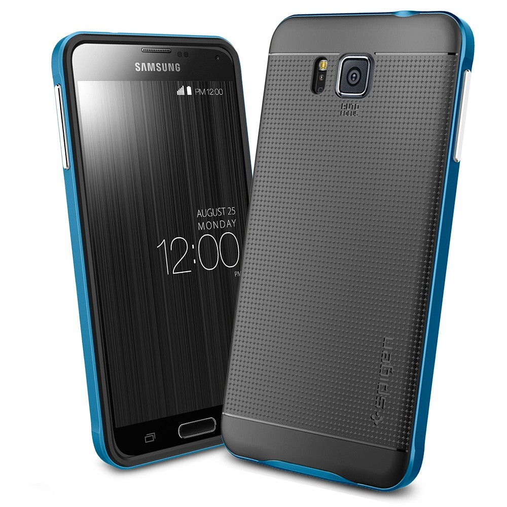 Чехол Spigen Neo Hybrid Electric Blue для Samsung Galaxy Alpha