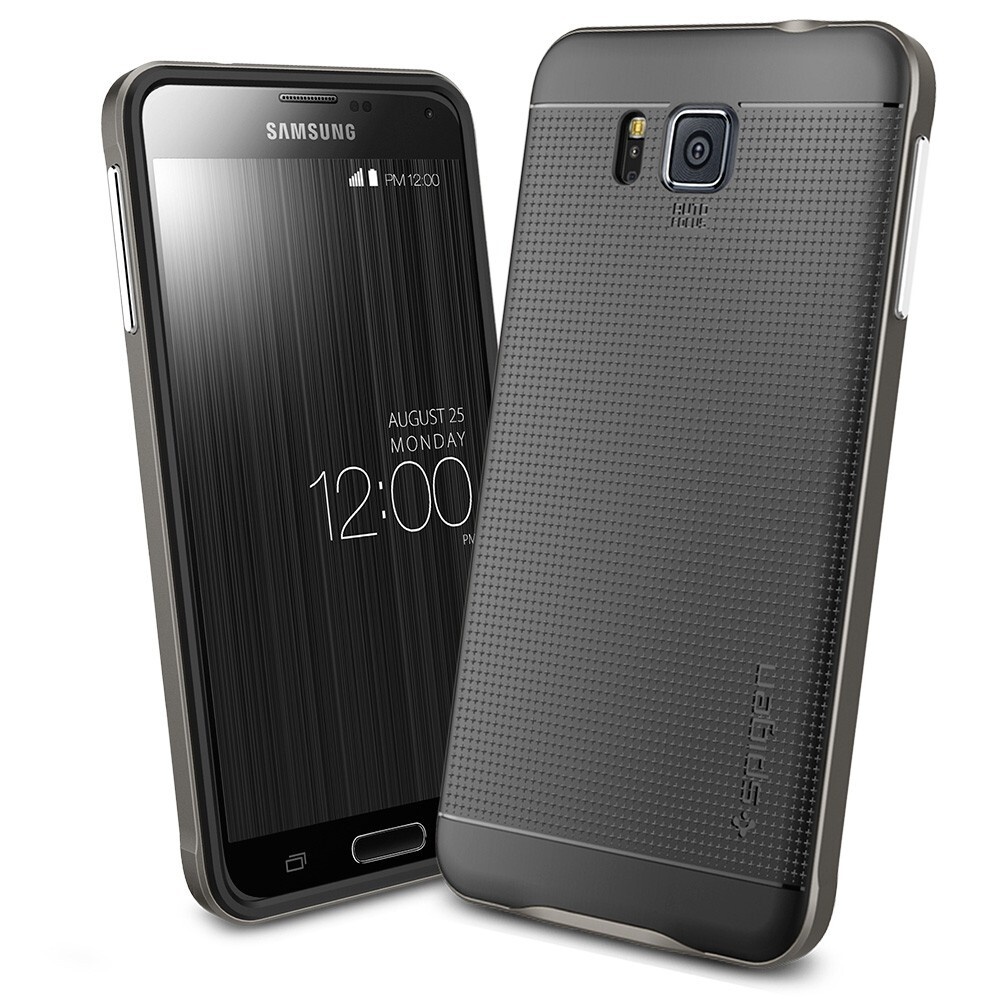 Чехол Spigen Neo Hybrid Gunmetal для Samsung Galaxy Alpha