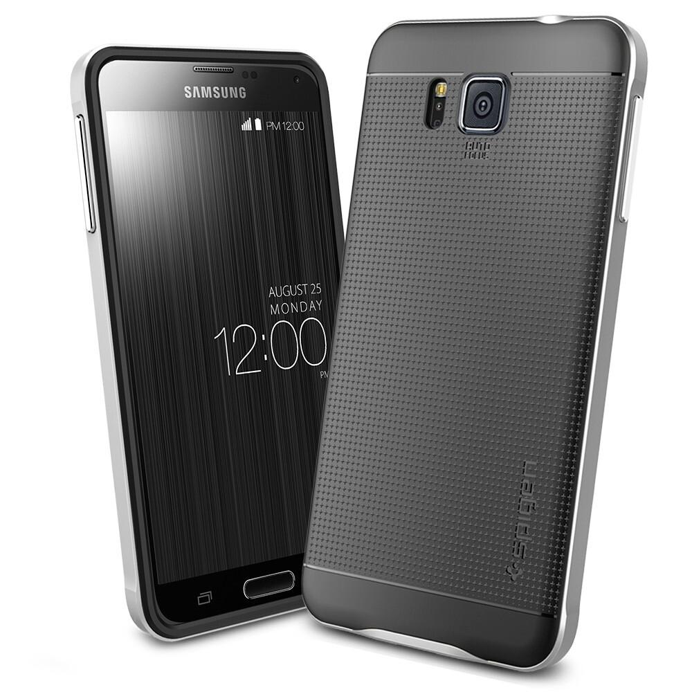 Чехол Spigen Neo Hybrid Satin Silver для Samsung Galaxy Alpha