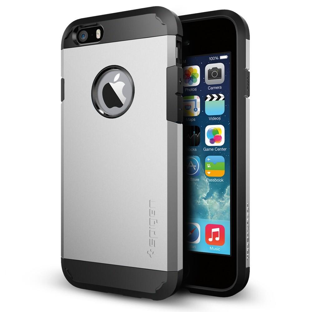 Чехол Spigen Tough Armor Satin Silver для iPhone 6/6s