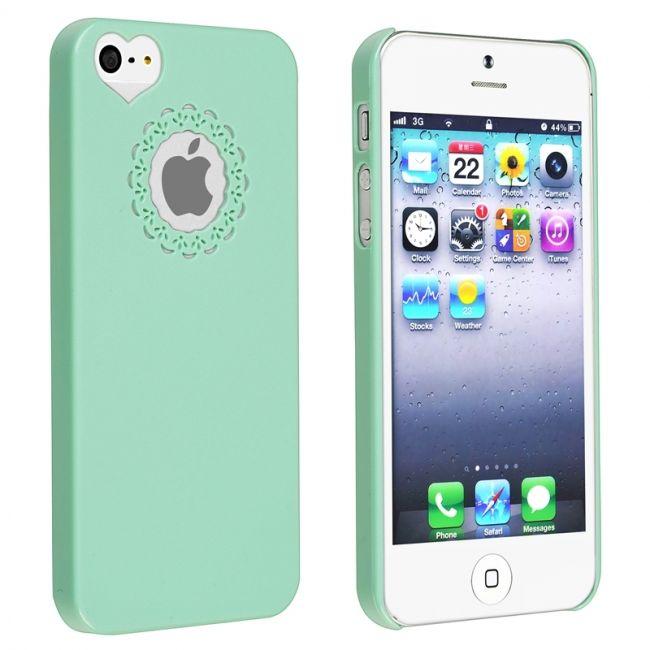 Женский чехол Sweet Heart Green для iPhone 5/5S/SE