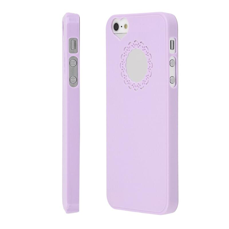 Женский чехол Sweet Heart Purple для iPhone 5/5S/SE