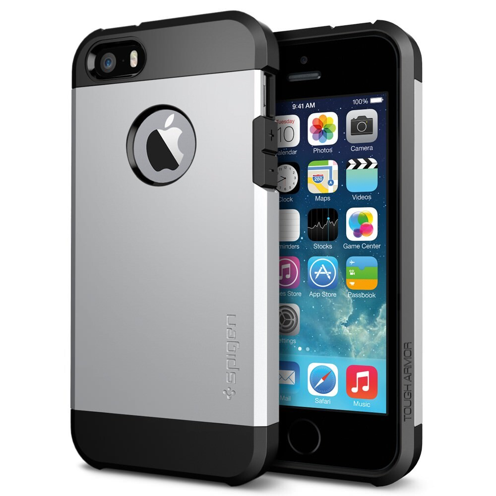 Чехол SGP Tough Armor Satin Silver OEM для iPhone 5/5S/SE