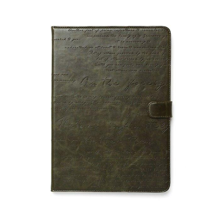"""Чехол ZENUS Masstige Lettering Diary Deep Khaki для iPad Air/9.7"""" (2017)"""