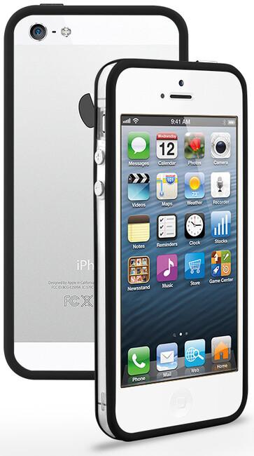 Прозрачный бампер с ободком для iPhone 5/5S/SE