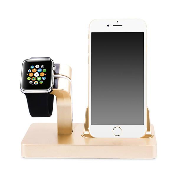 Золотая док-станция CinkeyPro Charger Dock для Apple Watch и iPhone
